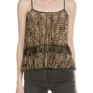 BCBgeneration pleated multicolored tank size XS